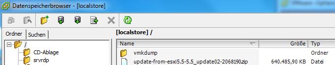 VMWare ESXi Datastore